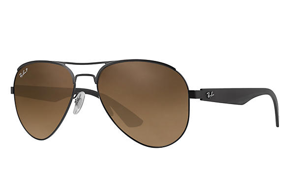 Ray-Ban  prescription sunglasses RB3523 MALE P006 rb3523 black RX_8053672351750?roxLensPartNumber=Brown_Gradient_Polar_SV