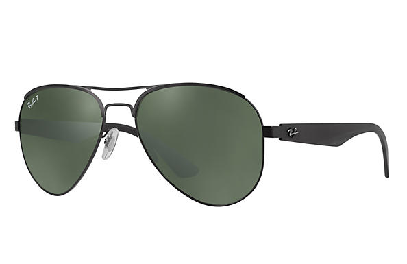 Ray-Ban  prescription sunglasses RB3523 MALE P006 rb3523 black RX_8053672351750?roxLensPartNumber=Green_Classic_G 15_Polar_SV