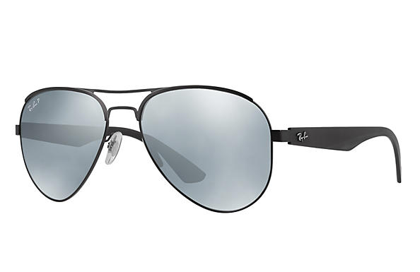 Ray-Ban  prescription sunglasses RB3523 MALE P006 rb3523 black RX_8053672351750?roxLensPartNumber=Silver_Flash_Polar_SV