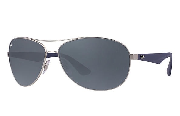 Ray-Ban  prescription sunglasses RB3526 MALE P007 rb3526 silver RX_8053672359022?roxLensPartNumber=Blue_Gray_Classic_SV