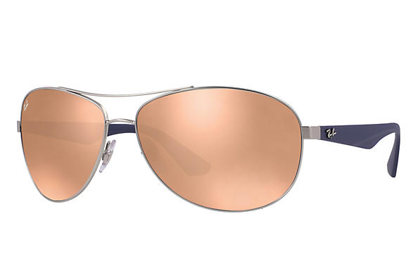 Ray-Ban  prescription sunglasses RB3526 MALE P007 rb3526 silver RX_8053672359022?roxLensPartNumber=Copper_Flash_SV