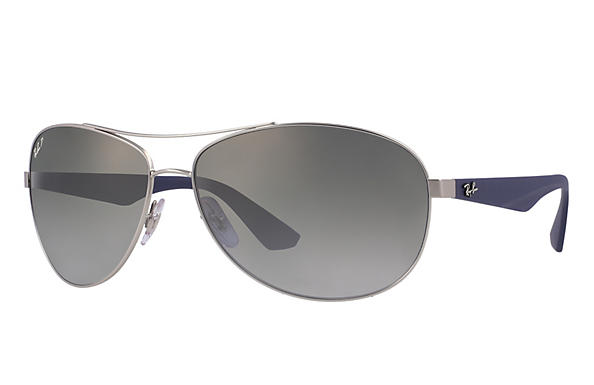 Ray-Ban  prescription sunglasses RB3526 MALE P007 rb3526 silver RX_8053672359022?roxLensPartNumber=Grey_Gradient_Polar_SV