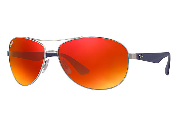 Ray-Ban  prescription sunglasses RB3526 MALE P007 rb3526 silver RX_8053672359022?roxLensPartNumber=Orange_Flash_Polar_SV