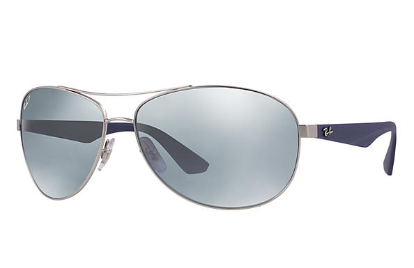 Ray-Ban  prescription sunglasses RB3526 MALE P007 rb3526 silver RX_8053672359022?roxLensPartNumber=Silver_Flash_Polar_SV