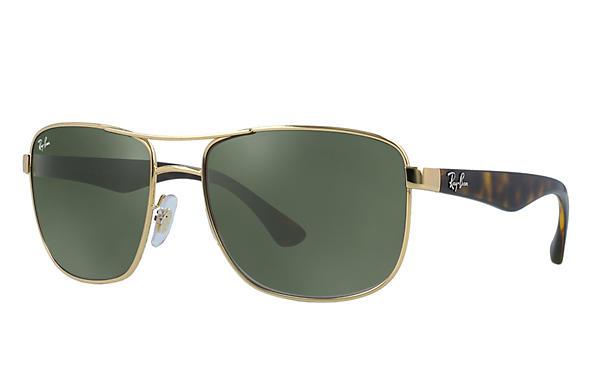 ad9981aa35d Ray-Ban RB3533 Gold - Steel - Green Prescription Lenses Prescription ...