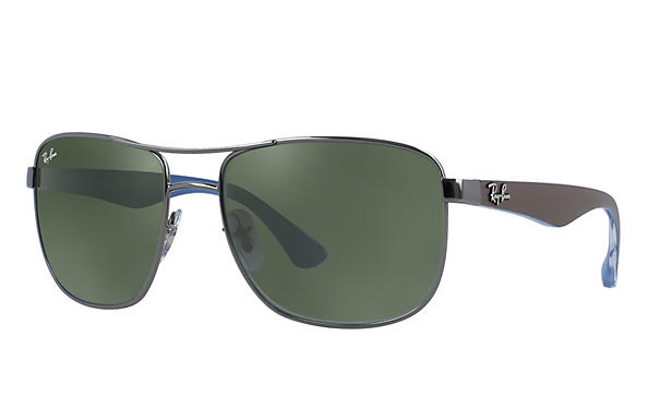 ddc8a15eea Ray-Ban RB3533 Gunmetal - Steel - Green Prescription Lenses ...