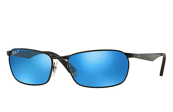 Ray-Ban  prescription sunglasses RB3534 MALE P001 rb3534 black RX_8053672497670?roxLensPartNumber=Blue_Flash_Polar_SV