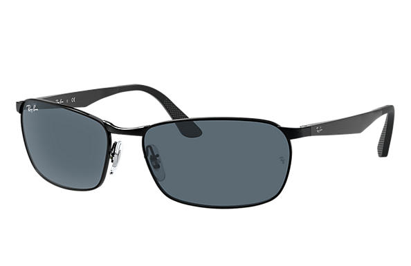 Ray-Ban  prescription sunglasses RB3534 MALE P001 rb3534 black RX_8053672497670?roxLensPartNumber=Blue_Gray_Classic_SV