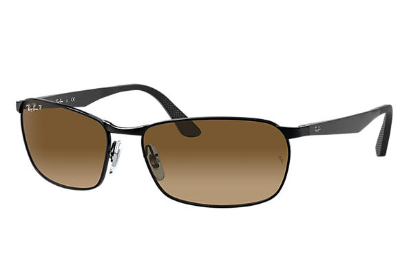 Ray-Ban  prescription sunglasses RB3534 MALE P001 rb3534 black RX_8053672497670?roxLensPartNumber=Brown_Gradient_Polar_SV