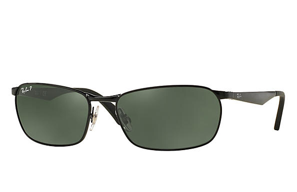 Ray-Ban  prescription sunglasses RB3534 MALE P001 rb3534 black RX_8053672497670?roxLensPartNumber=Green_Classic_G 15_Polar_SV