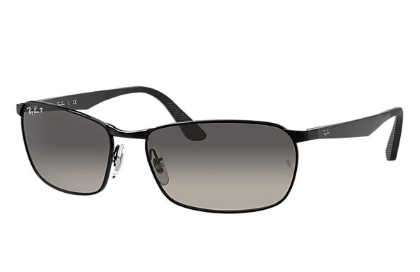 Ray-Ban  prescription sunglasses RB3534 MALE P001 rb3534 black RX_8053672497670?roxLensPartNumber=Grey_Gradient_Polar_SV