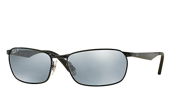 Ray-Ban  prescription sunglasses RB3534 MALE P001 rb3534 black RX_8053672497670?roxLensPartNumber=Silver_Flash_Polar_SV