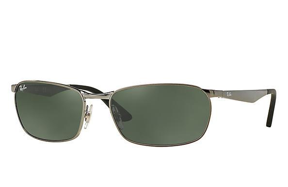 aa00533292 Ray-Ban RB3534 Gunmetal - Metal - Green Prescription Lenses ...