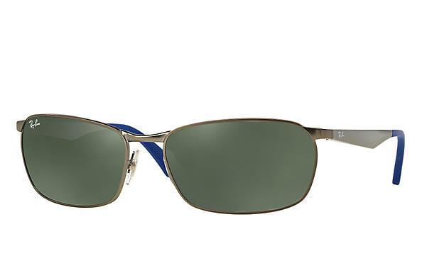 82845298c73 Ray-Ban RB3534 Gunmetal - Metal - Green Prescription Lenses ...