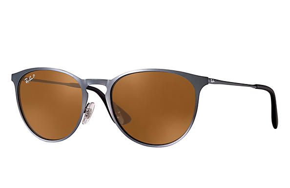 Ray-Ban  prescription sunglasses RB3539 UNISEX P007 erika metal grey RX_8053672565409?roxLensPartNumber=Brown_Classic_B 15_Polar_SV