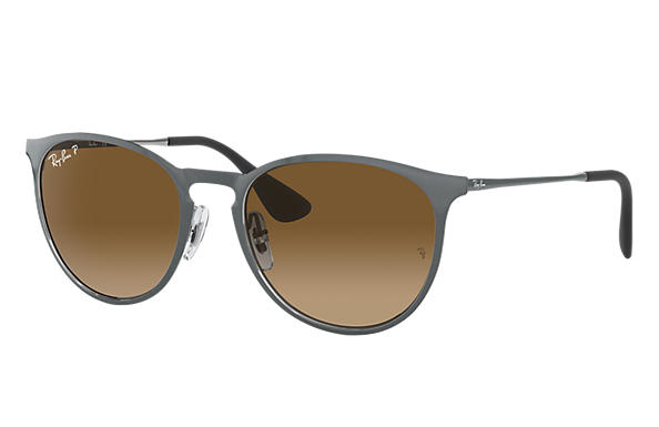 Ray-Ban  prescription sunglasses RB3539 UNISEX P007 erika metal grey RX_8053672565409?roxLensPartNumber=Brown_Gradient_Polar_SV