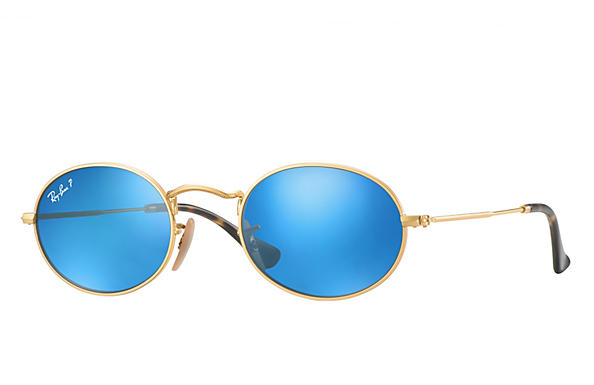 Ray-Ban  prescription sunglasses RB3547N MALE P009 oval flat lenses gold RX_8053672611519?roxLensPartNumber=Blue_Flash_Polar_SV
