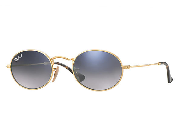 Ray-Ban  prescription sunglasses RB3547N MALE P009 oval flat lenses gold RX_8053672611519?roxLensPartNumber=Blue_Grey_Gradient_Polar_SV