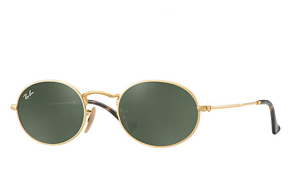 8f423be0212c Ray-Ban Oval RB3547N Gold - Metal - Green Prescription Lenses ...