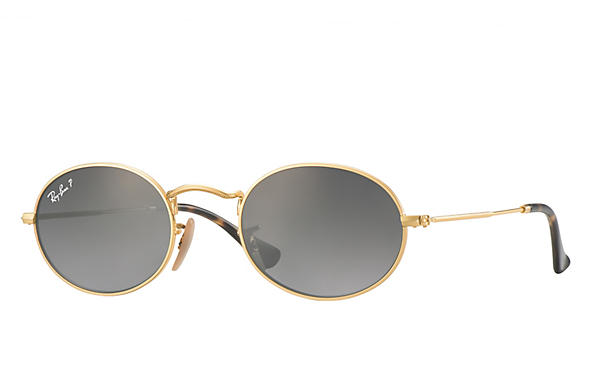 Ray-Ban 0RB3547N-OVAL FLAT LENSES Polished Gold,Gold; Gold ROX_FRAME