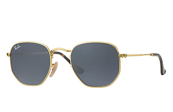 Ray-Ban  prescription sunglasses RB3548N MALE P009 hexagonal gold RX_8053672689679?roxLensPartNumber=Blue_Gray_Classic_SV