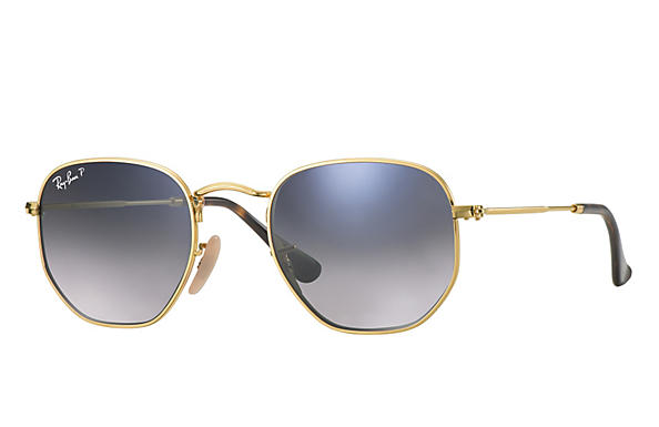 Ray-Ban  prescription sunglasses RB3548N MALE P009 hexagonal gold RX_8053672689679?roxLensPartNumber=Blue_Grey_Gradient_Polar_SV