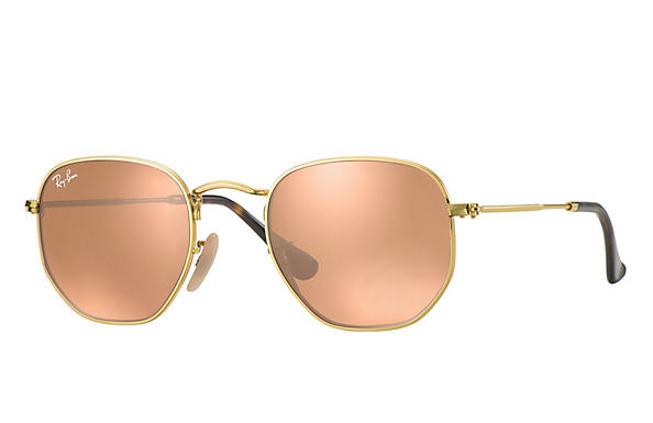 Ray-Ban  prescription sunglasses RB3548N MALE P009 hexagonal gold RX_8053672689679?roxLensPartNumber=Copper_Flash_SV