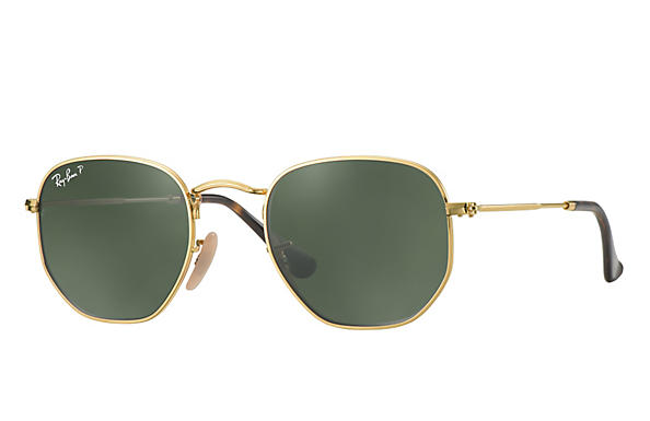 Ray-Ban  prescription sunglasses RB3548N MALE P009 hexagonal gold RX_8053672689679?roxLensPartNumber=Green_Classic_G 15_Polar_SV