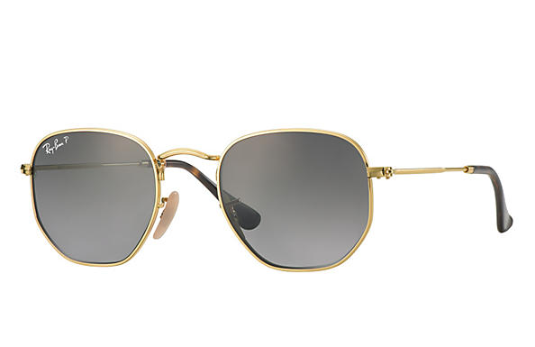 Ray-Ban  prescription sunglasses RB3548N MALE P009 hexagonal gold RX_8053672689679?roxLensPartNumber=Grey_Gradient_Polar_SV