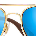 Ray-Ban  prescription sunglasses RB3549 MALE P001 rb3549 gold RX_8053672879018?roxLensPartNumber=Blue_Flash_Polar_SV