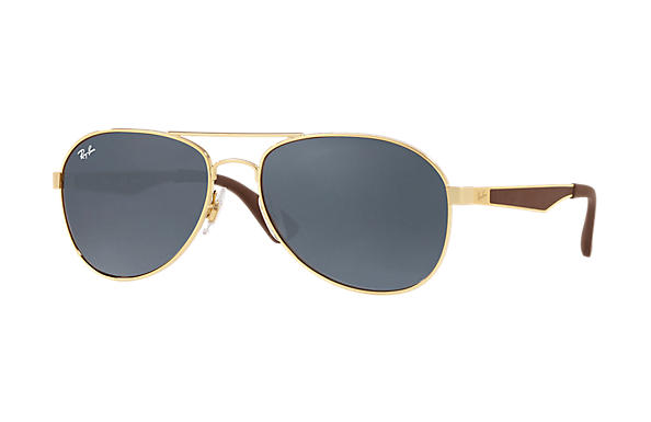 Ray-Ban  prescription sunglasses RB3549 MALE P001 rb3549 gold RX_8053672879018?roxLensPartNumber=Blue_Gray_Classic_SV