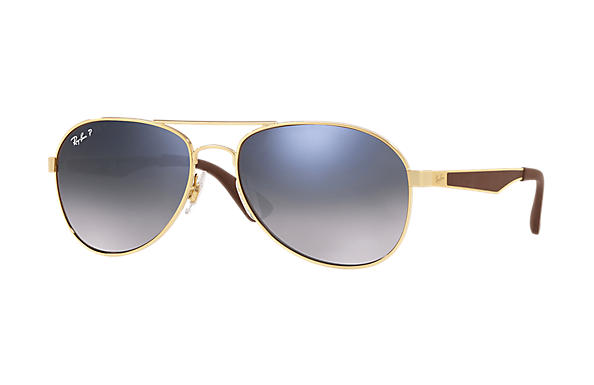 Ray-Ban  prescription sunglasses RB3549 MALE P001 rb3549 gold RX_8053672879018?roxLensPartNumber=Blue_Grey_Gradient_Polar_SV