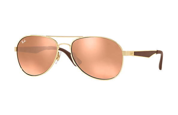 Ray-Ban  prescription sunglasses RB3549 MALE P001 rb3549 gold RX_8053672879018?roxLensPartNumber=Copper_Flash_SV