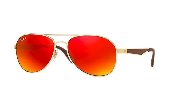 Ray-Ban  prescription sunglasses RB3549 MALE P001 rb3549 gold RX_8053672879018?roxLensPartNumber=Orange_Flash_Polar_SV