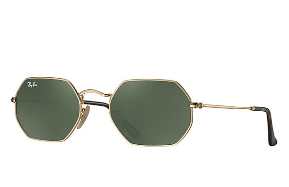 Ray-Ban 0RB3556N-OCTAGONAL FLAT LENSES Gold ROX_FRAME