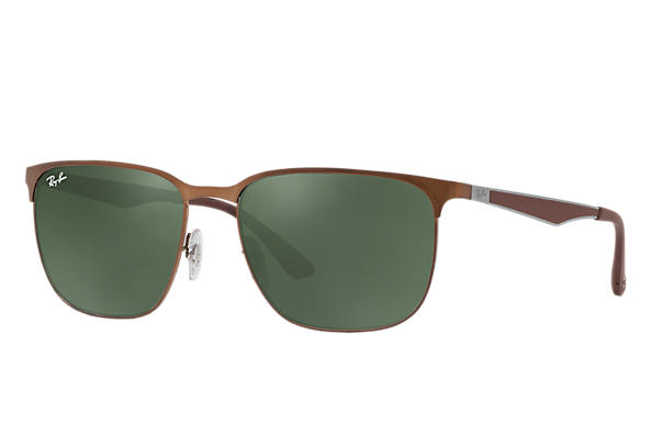 Ray-Ban 0RB3569-RB3569 Light Brown; Gunmetal,Brown ROX_FRAME
