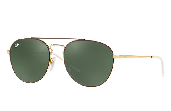Ray-Ban 0RB3589-RB3589 Brown,Gold; Gold ROX_FRAME
