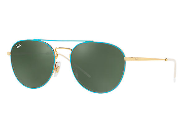 Ray-Ban 0RB3589-RB3589 Blue,Gold; Gold ROX_FRAME