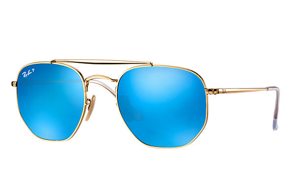 Ray-Ban  prescription sunglasses RB3648 MALE P003 marshal gold RX_8053672828047?roxLensPartNumber=Blue_Flash_Polar_SV