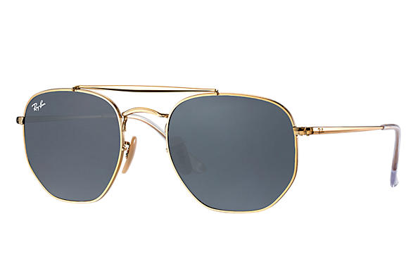 Ray-Ban  prescription sunglasses RB3648 MALE P003 marshal gold RX_8053672828047?roxLensPartNumber=Blue_Gray_Classic_SV