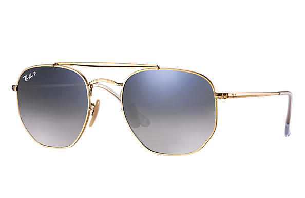 Ray-Ban  prescription sunglasses RB3648 MALE P003 marshal gold RX_8053672828047?roxLensPartNumber=Blue_Grey_Gradient_Polar_SV