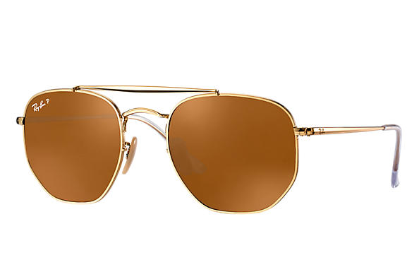 Ray-Ban  prescription sunglasses RB3648 MALE P003 marshal gold RX_8053672828047?roxLensPartNumber=Brown_Classic_B 15_Polar_SV