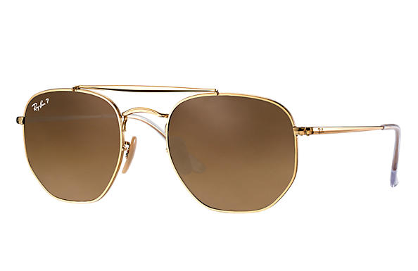 Ray-Ban  prescription sunglasses RB3648 MALE P003 marshal gold RX_8053672828047?roxLensPartNumber=Brown_Gradient_Polar_SV