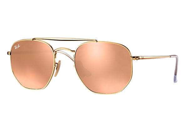 Ray-Ban  prescription sunglasses RB3648 MALE P003 marshal gold RX_8053672828047?roxLensPartNumber=Copper_Flash_SV