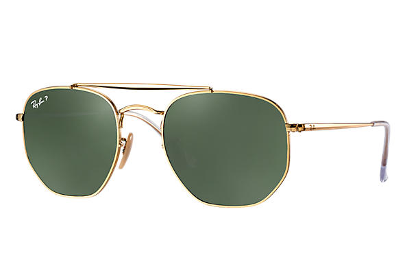 Ray-Ban  prescription sunglasses RB3648 MALE P003 marshal gold RX_8053672828047?roxLensPartNumber=Green_Classic_G 15_Polar_SV