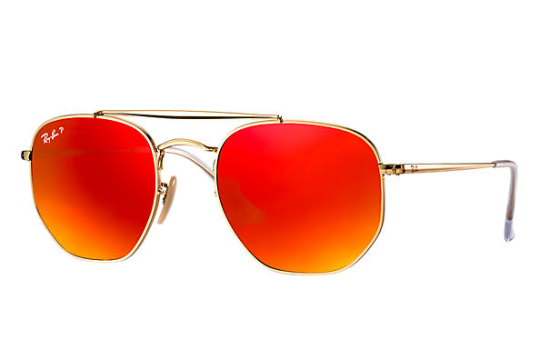 Ray-Ban  prescription sunglasses RB3648 MALE P003 marshal gold RX_8053672828047?roxLensPartNumber=Orange_Flash_Polar_SV