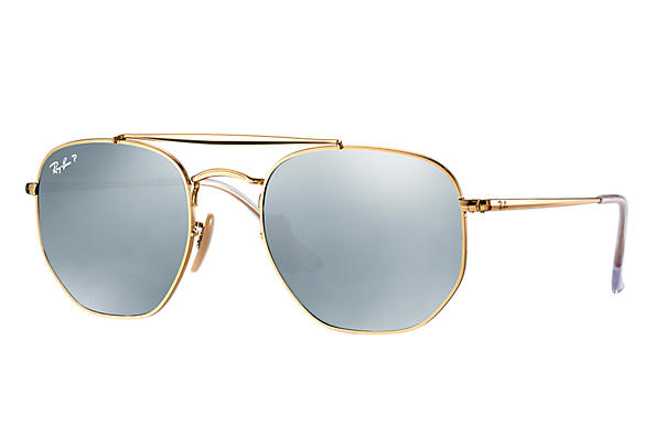 Ray-Ban  prescription sunglasses RB3648 MALE P003 marshal gold RX_8053672828047?roxLensPartNumber=Silver_Flash_Polar_SV