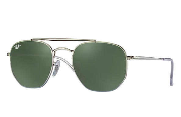 a89239deaf Ray-Ban Marshal RB3648 Silver - Metal - Green Prescription Lenses ...