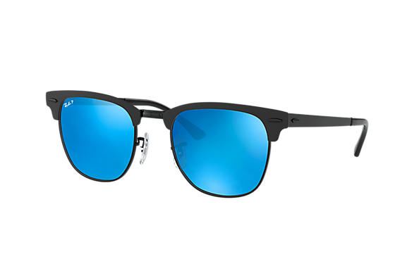 Ray-Ban  prescription sunglasses RB3716 UNISEX P003 clubmaster metal black RX_8053672867060?roxLensPartNumber=Blue_Flash_Polar_SV