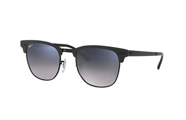 Ray-Ban  prescription sunglasses RB3716 UNISEX P003 clubmaster metal black RX_8053672867060?roxLensPartNumber=Blue_Grey_Gradient_Polar_SV
